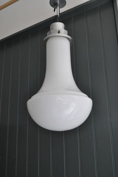 Large Opaline Lamp
