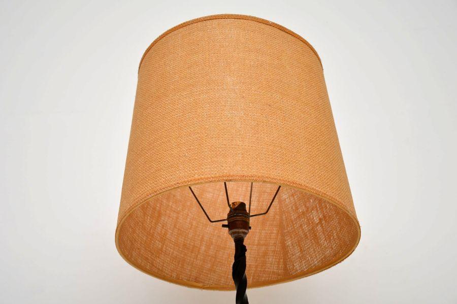 Antique Cast Iron Floor Lamp Vintage 1900's