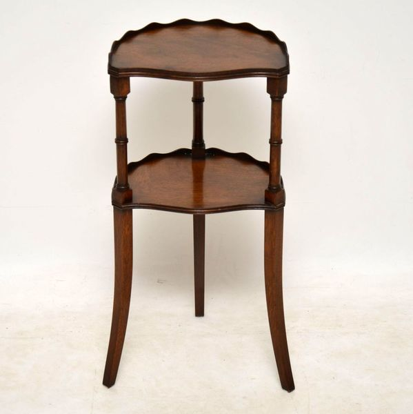 Antique Mahogany Two Tier Side Table
