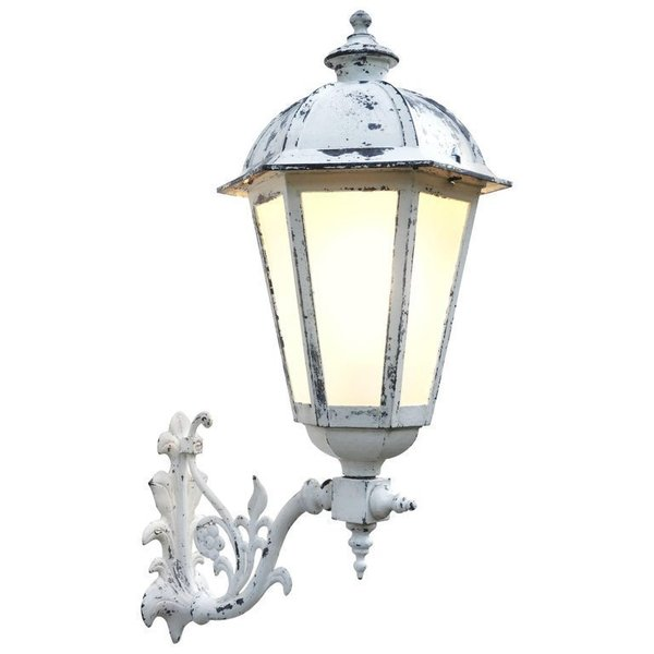 Outdoor Lantern Wall Light French Metal Glass Sconce Exterior Porch
