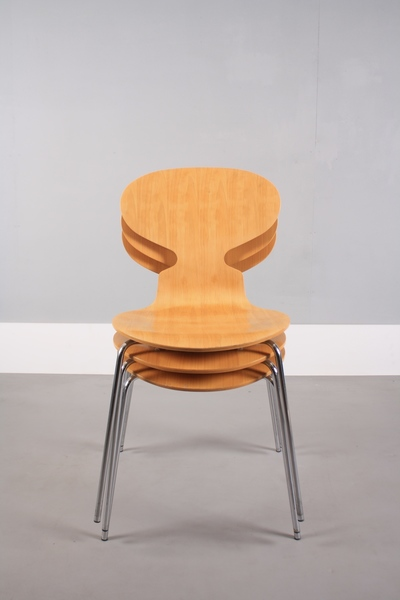 Set Of Three Arne Jacobsen For Fritz Hansen Ant Chairs photo 1