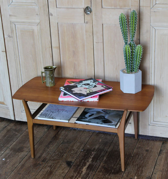 Attractive Teak Retro Nathan Coffee Table With Magazine ...