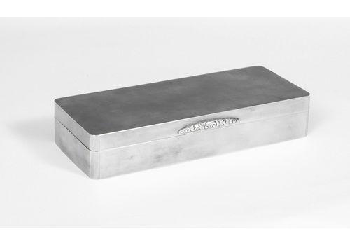 Art Deco Silver Cigarette Card Box Casket 1938