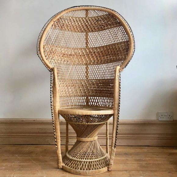 Vintage Woven Rattan Peacock Chair