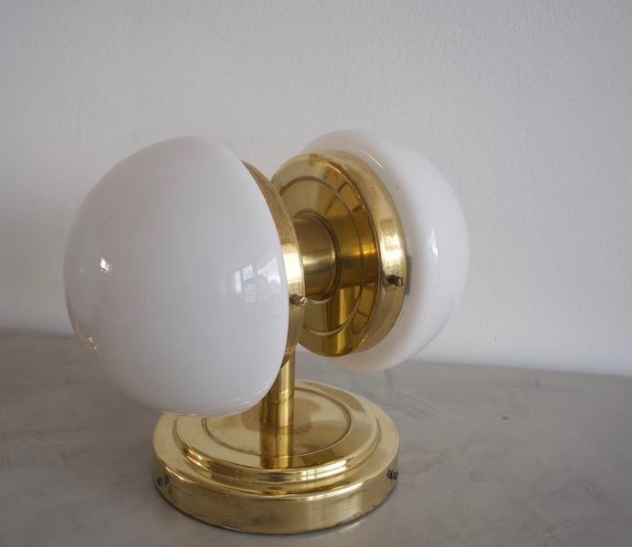 Klaus Michalik Blass And White Glass Wall Lamp