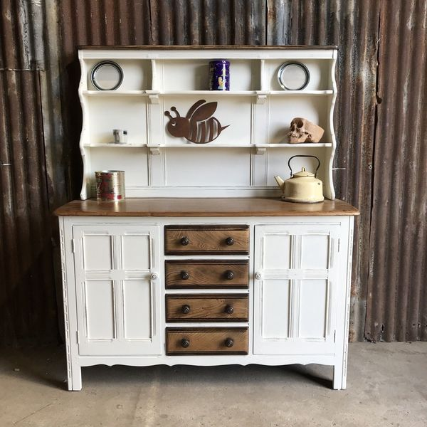 Ercol Welsh Dresser Country Shabby Chic Farmhouse Rustic Cupboard Kitchen Unit