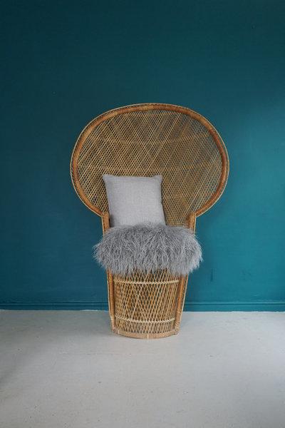 Vintage Wicker Peacock Chair C.1970