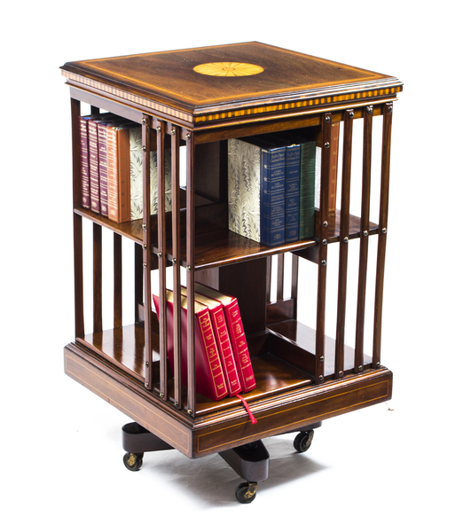Antique Edwardian Revolving Bookcase C.1900