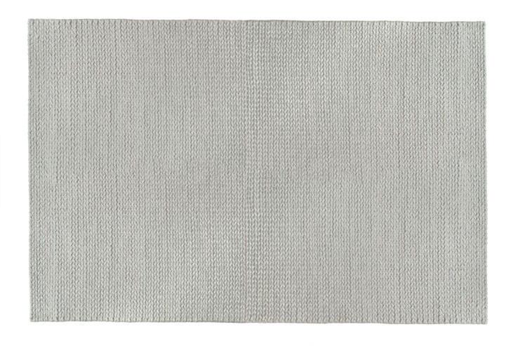 Fine Tresse Wool Rug, Silver
