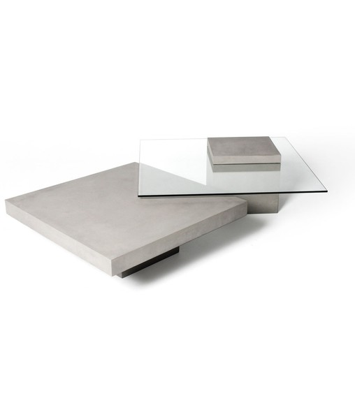 Concrete Coffee Table With Gl Top